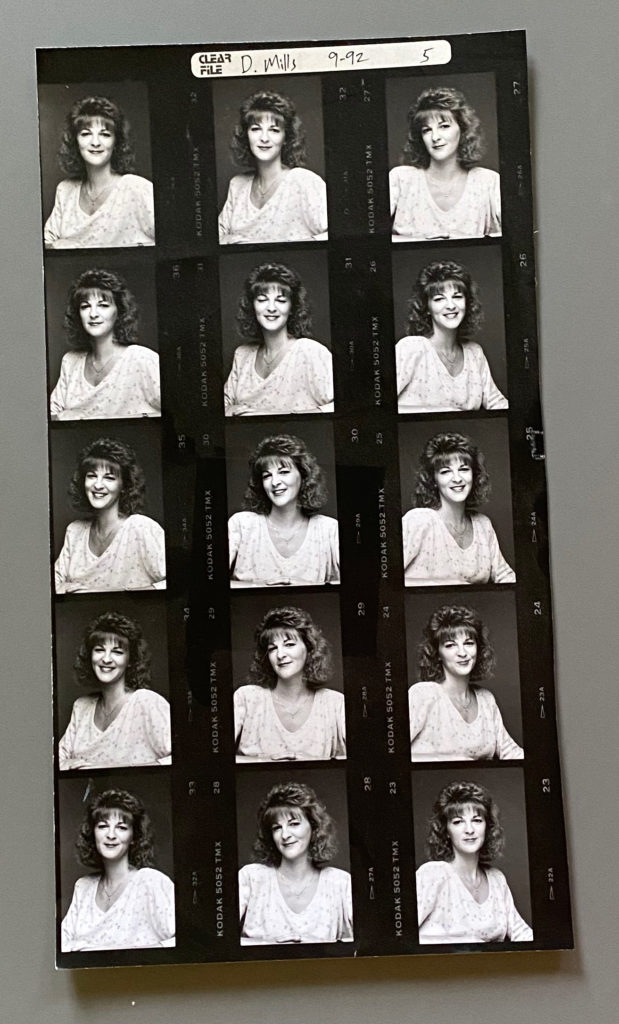 80s graphic design contact sheet