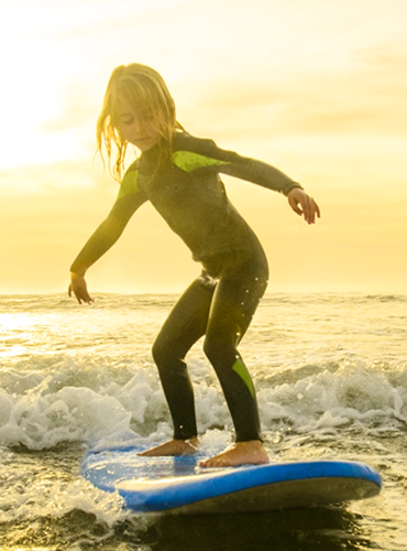 girl surfing